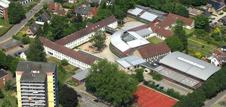 Luftbild der Boje-C.-Steffen-Gemeinschaftsschule