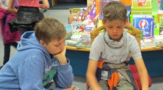 Klasse 5a besucht die Buchhandlung Heymann